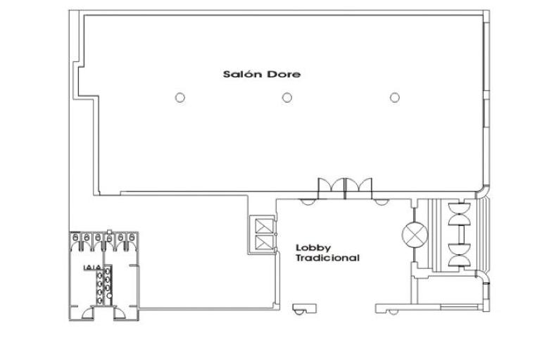 Salones hotel hermitage for Planos de salones